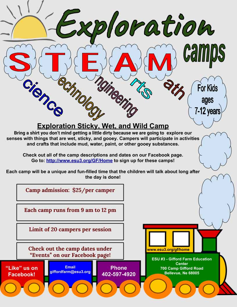 STEAM Sticky Wet WIld camp