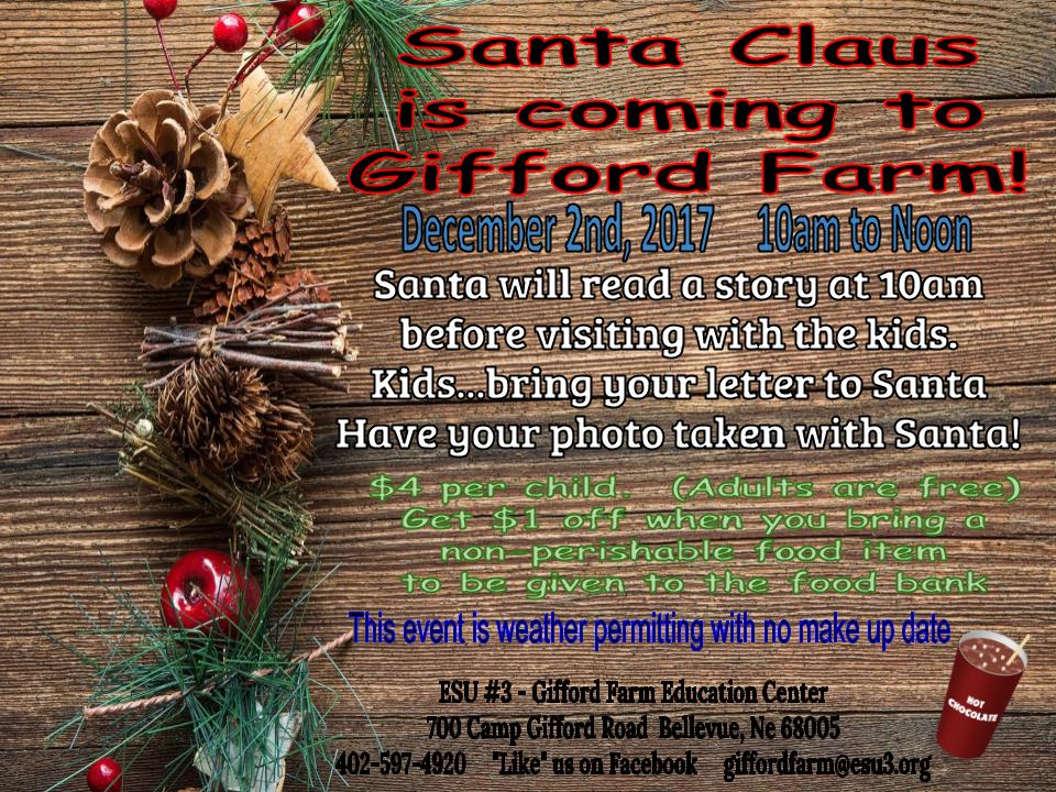 Santa Claus is coming to Gifford Farm!