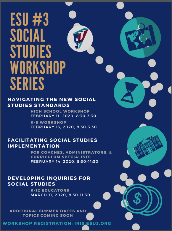 Click here to register for the Social Studies workshops 2/11/20